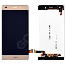 Дисплей Huawei P8 Lite (ALE L21, L20, L22) з тачскріном в зборі, колір золотий