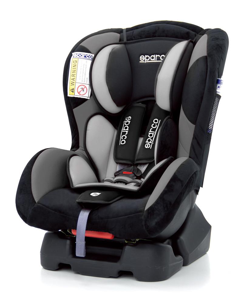 Автокрісло з базою Sparco F500K G01 Polyester чорно-сіре SP 00923GR