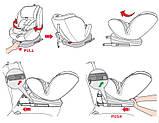 Автокрісло з поворотним механізмом Sparco G0+1+2+3 Polyester чорно-червоне SP SK600I- RD, фото 2