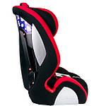 Автокрісло Sparco 1+2+3 (9-36кг) чорно-червоне SP F1000K- RD, фото 4