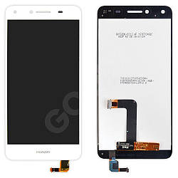 Дисплей Huawei Y5 II, Honor 5, Honor Play 5 (CUN-U29, CUN-L21) з тачскріном в зборі, колір білий