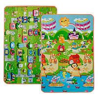 Дитячий двосторонній килимок Limpopo Сонячний день і кольорові цифри 120х180 см (LP017-120)