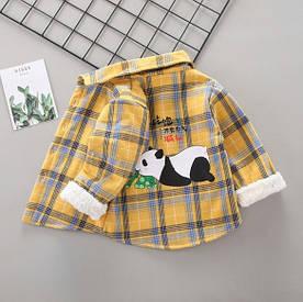 Утепленнач сорочка Панда жовта 4983 100