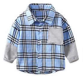 Сорочка для хлопчика синя 3983 90
