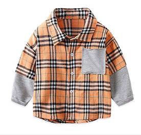 Сорочка для хлопчика оранж 3984 110