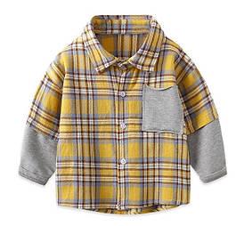 Сорочка для хлопчика жовта 3985 120