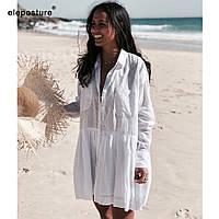 Нежное платье из натурального батиста для лета. ХС-12ХЛ. Цвет в ассортименте