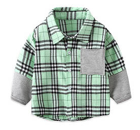 Сорочка для хлопчика зелена 3986 90