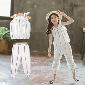 Летний костюм для девочки белый 3987 1374587389