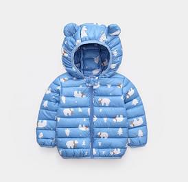 Демисезонная курточка голубая 4656