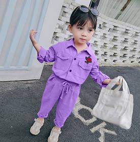 Костюм для девочки Rose фиолетовый 4033