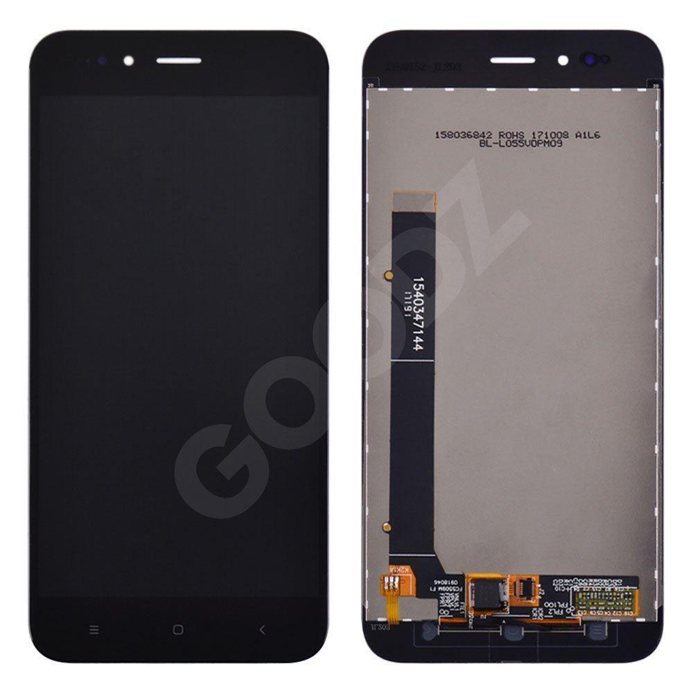 Дисплей Xiaomi Mi A1, Mi 5X с тачскрином в сборе, цвет черный, оригинал, уценка