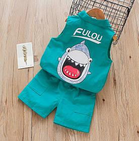 Летний костюм Fulou зеленый 4038 1374587480