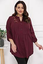 Красивая  женская рубашка размер плюс Алика 7 цветов (54-72)