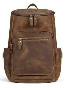 Дорожній рюкзак матовий Vintage 14887 Коньячний