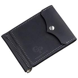 Компактний затиск для грошей GRANDE PELLE 11196 Чорний
