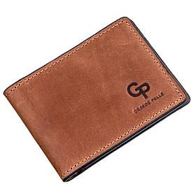 Компактний затиск для грошей без застібки GRANDE PELLE 11240 Коричневий