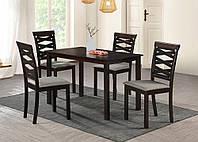 Комплект мебели обеденной стол + 4 стула Бруклин , орех