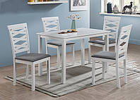 Комплект мебели обеденной стол + 4 стула Бруклин , белый