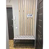 Банкеткa - Пуф в стиле Loft, каретная стяжка ( 2 полочки) 100 см, фото 2