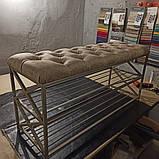 Банкетка Лофт, с мягким сидением (Capitone)., фото 2