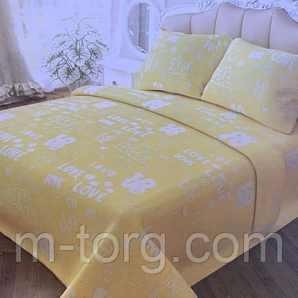 Комплект постільної білизни полуторний 150/210 см, нав-ки 70/70, тканина сатин, 100% складається з бавовни, фото 2