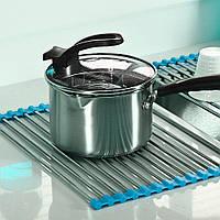 Сушилка для посуды на мойку (раковину) Kitchen Drainboard (Голубая) сушилка для раковины (над раковиной) (TI)