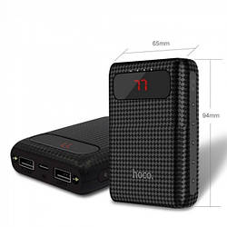 Зовнішній акумулятор Power bank HOCO B20 Mige 10000 mAh батарея зарядка Чорний