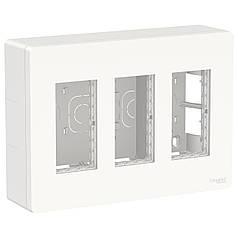 Блок unica system + открытая вставка 3х2 белый, SE