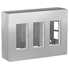 Блок unica system + відкрита вставка. 3х2 алюміній