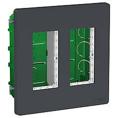 Блок unica system + прихована вставка 2х2 антрацит, SE