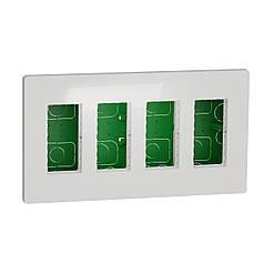 Блок unica system + прихована вставка 4х2 білий