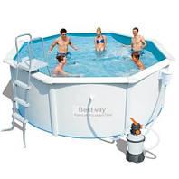 Сборный бассейн Bestway 56566 Hydrium 300 x 120 см с песочный фильтром