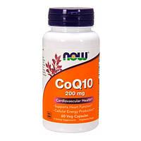 Коензим Q10 CoQ10 Now Foods 200 мг вегетаріанські капсули №60