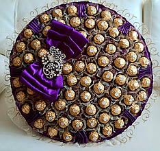 Большой Букет из конфет  Ferrero Rocher Солидный букет Королевская роскошь Фиолет XL