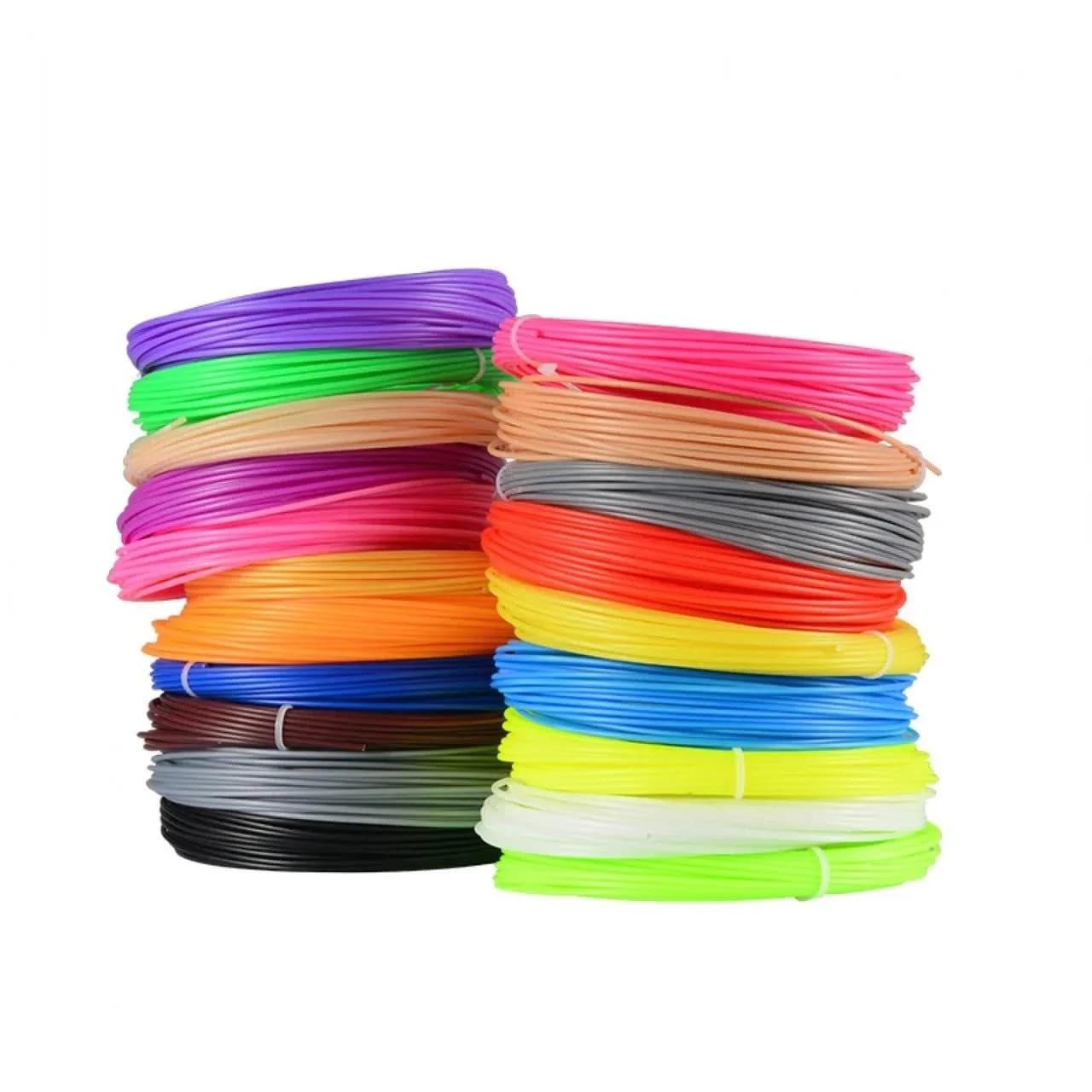 Пластик для 3D ручки PLA HQ (20 кольорів по 5 метрів) HM164