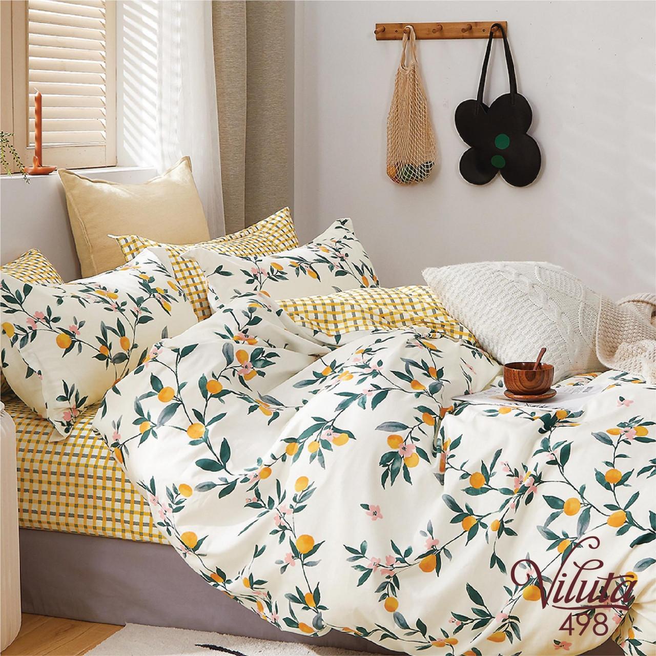 Комплект постельного белья Семейный Сатин Twill 498 ТМ Вилюта