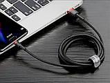 Кабель быстрой зарядки Baseus 2A, 120 см. for Iphone Black, длина - 120 см. (CALYW-01), фото 5