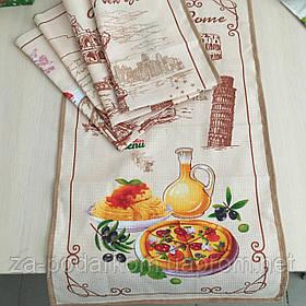 Полотенце 59х35см вафельное серии Кухни мира