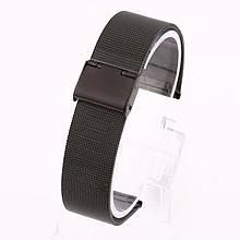 Ремінець для годинника Mesh steel design bracelet Універсальний, 20 мм. Black