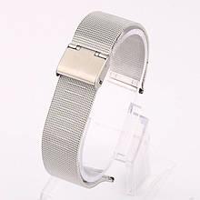 Ремінець для годинника Mesh steel design bracelet Універсальний, 20 мм. Silver