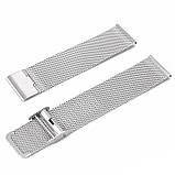 Ремешок для часов Mesh steel design bracelet Universal, 20 мм. Silver, фото 7