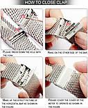 Ремінець для годинника Mesh steel design bracelet Універсальний, 20 мм. Silver, фото 9
