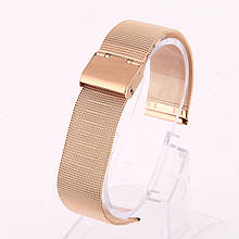 Ремінець для годинника Mesh steel design bracelet Універсальний, 20 мм. Rose gold