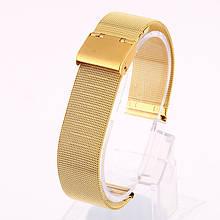 Ремінець для годинника Mesh steel design bracelet Універсальний, 20 мм. Gold