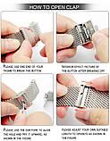 Ремешок для часов Mesh steel design bracelet Universal, 22 мм. Silver, фото 9