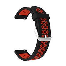 Ремінець для годинника Nike design bracelet Універсальний, 22 мм, Black/Red