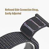 Ремешок для часов Nylon loop bracelet Universal, 20 мм. Dark gray, фото 4