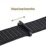 Ремешок для часов Nylon loop bracelet Universal, 20 мм. Dark gray, фото 5