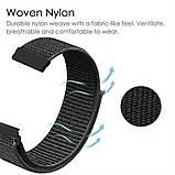 Ремешок для часов Nylon loop bracelet Universal, 20 мм. Dark gray, фото 6